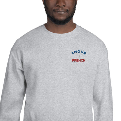 Sweat Amour is French Unisexe à Col Rond Créer Son T Shirt