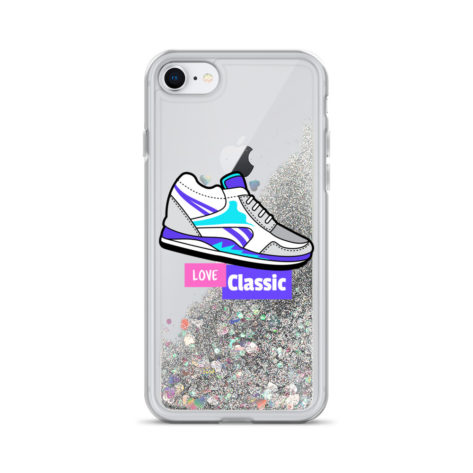 Coque iPhone Reebok Love Classic à Paillettes Liquides Créer Son T Shirt