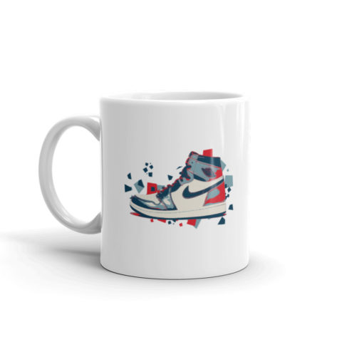 Mug Air Jordan 1 Artwork Blanc Brillant Créer Son T Shirt