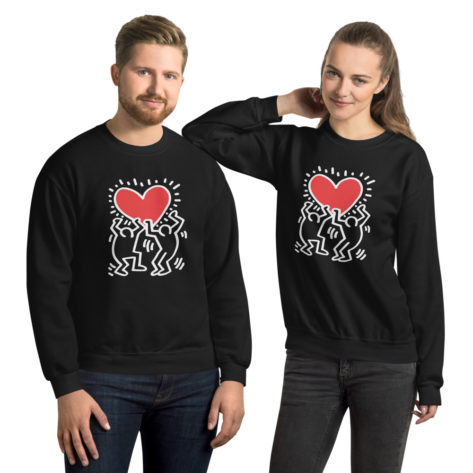 Sweat Keith Haring Unisexe à Col Rond Créer Son T Shirt