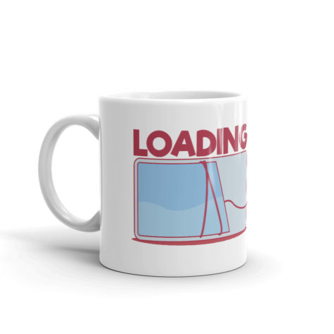 Mug Geek Loading Blanc Brillant Créer Son T Shirt