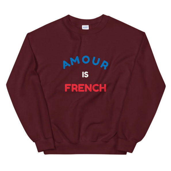 Sweat Amour is French Unisexe à Col Rond