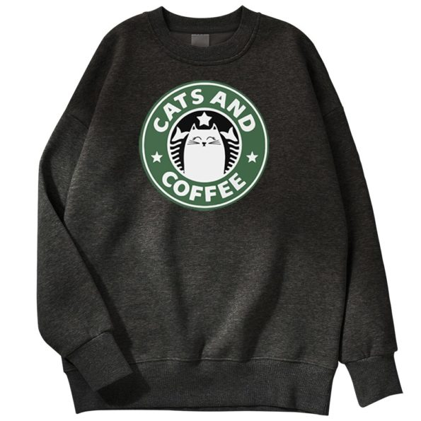 Sweat Starbuck Coffee Parodie Chat – Cats and Coffee – Chat Café