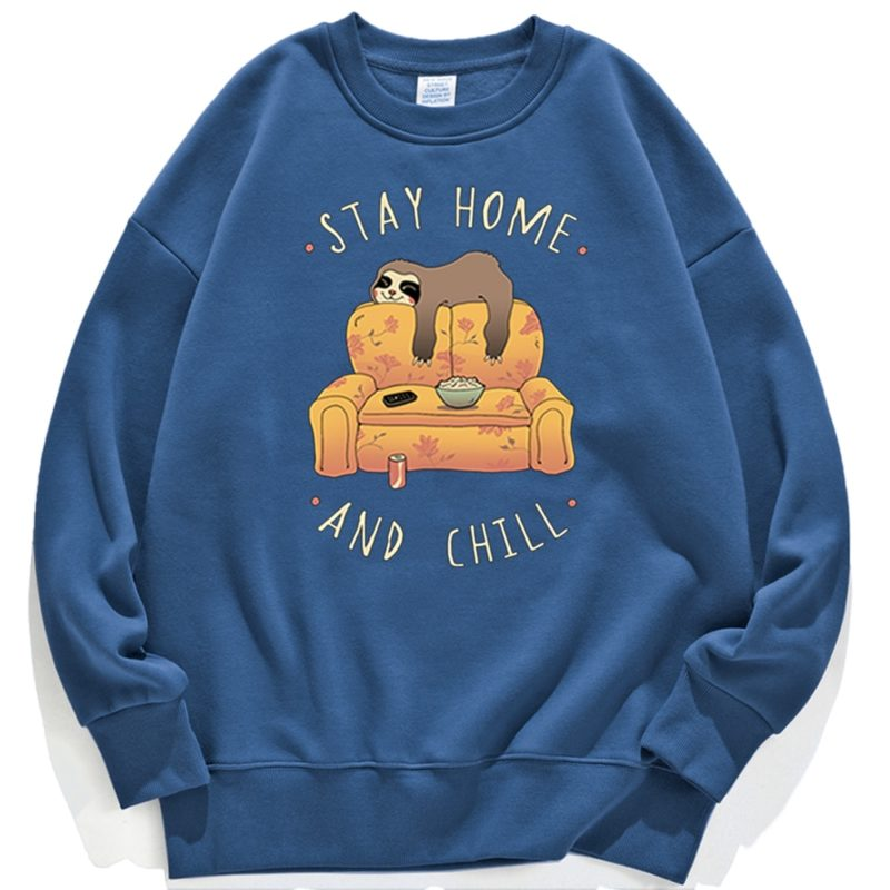 Sweat Stay Home and Chill - Femme Créer Son T Shirt