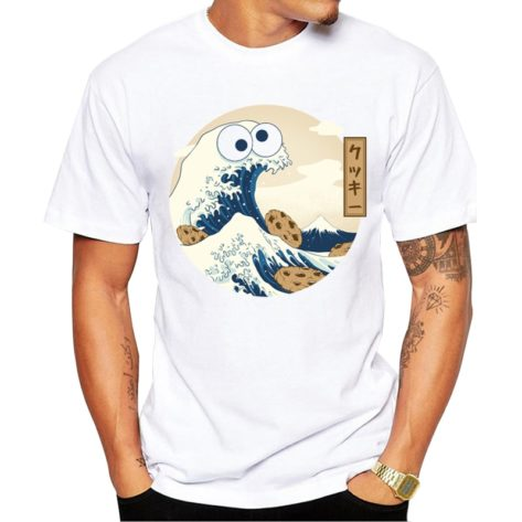 TEEHUB-T-Shirt-manches-courtes-homme-Hipster-Kanagawa-Wave-Hipster-haut-en-o-Cool-nouvelle-mode
