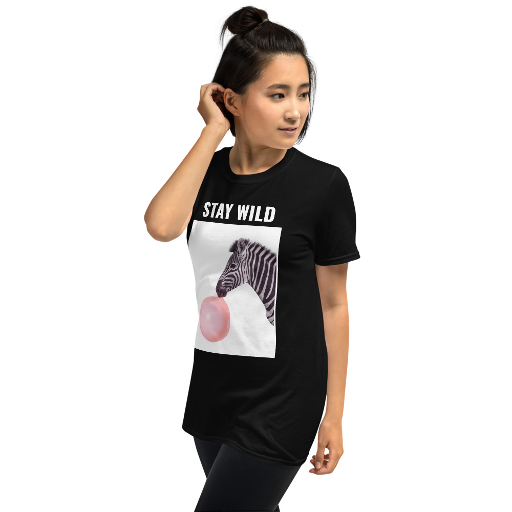 t-shirt-zèbre-tee-shirt-stay-wild_unisex-basic-softstyle-t-shirt-black-60020e5556ba7
