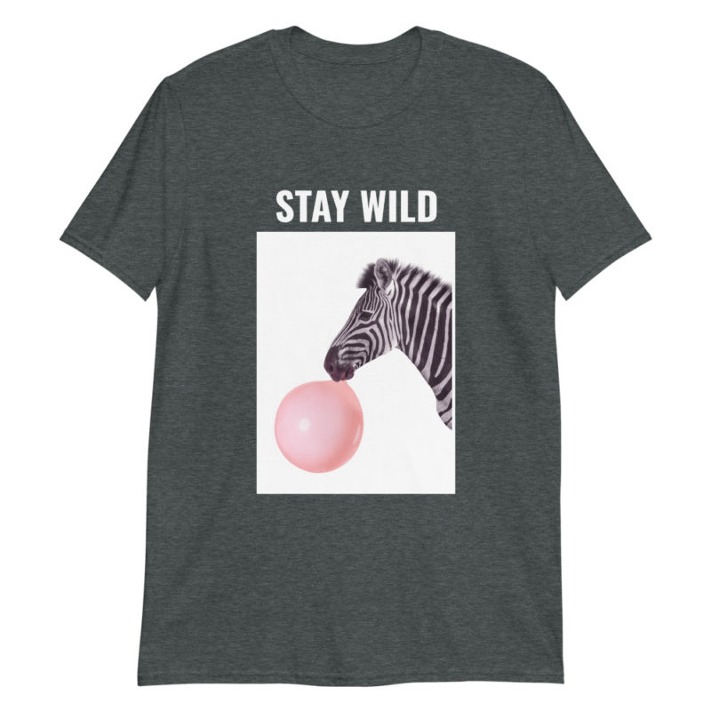 T-shirt Zèbre Chewing-Gum Stay Wild Créer Son T Shirt