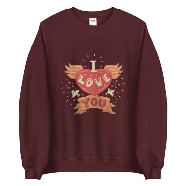Sweat I love you Coeur Ailes Typographie