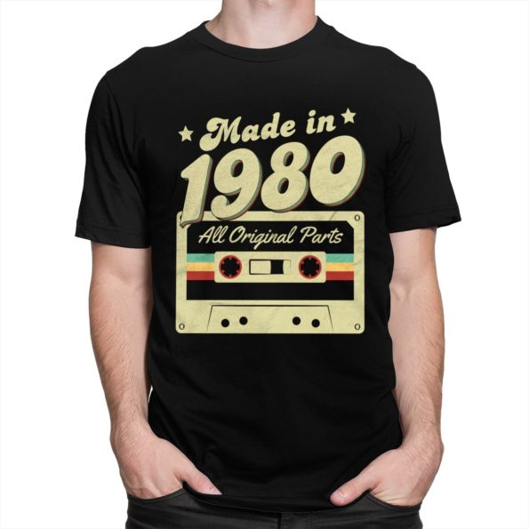 T-Shirt Rétro Made in 1980