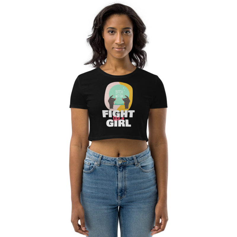 Crop top Fight like a Girl Créer Son T Shirt