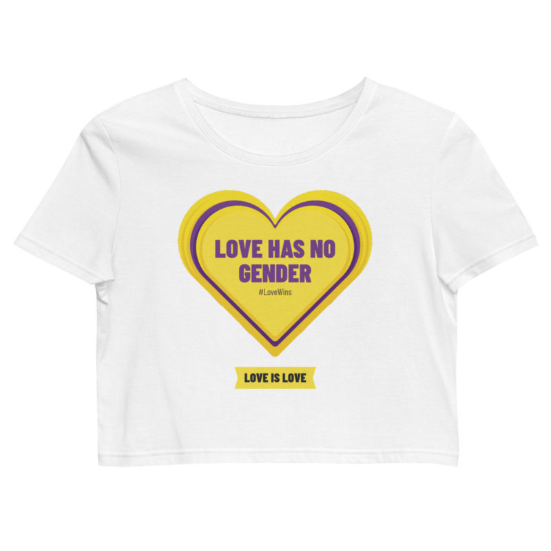 Crop top Love has no Gender Créer Son T Shirt