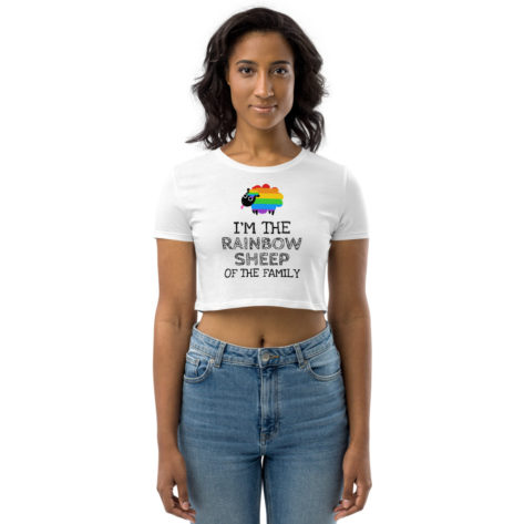 Crop top LGBT Raibow Sheep Of the Family Créer Son T Shirt