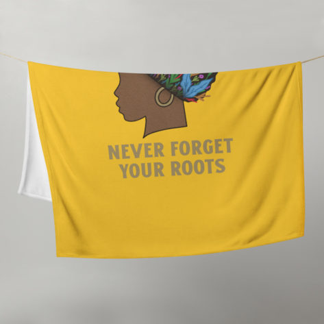 plaid-personnalisé-afrique-never-forget-your-roots