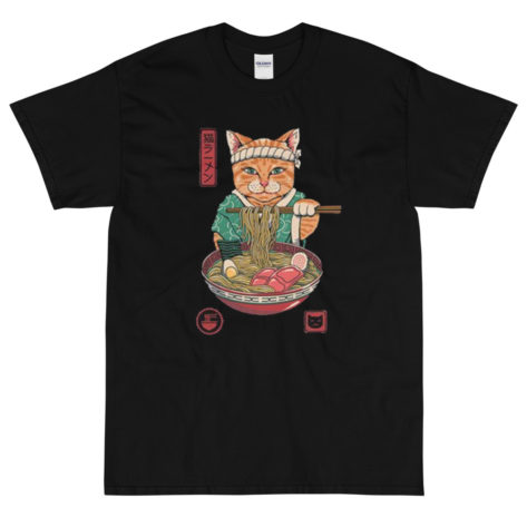 T-shirt Neko Ramen Chat Japon