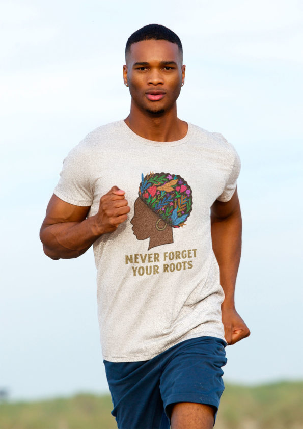 T-shirt Never Forget Your Roots