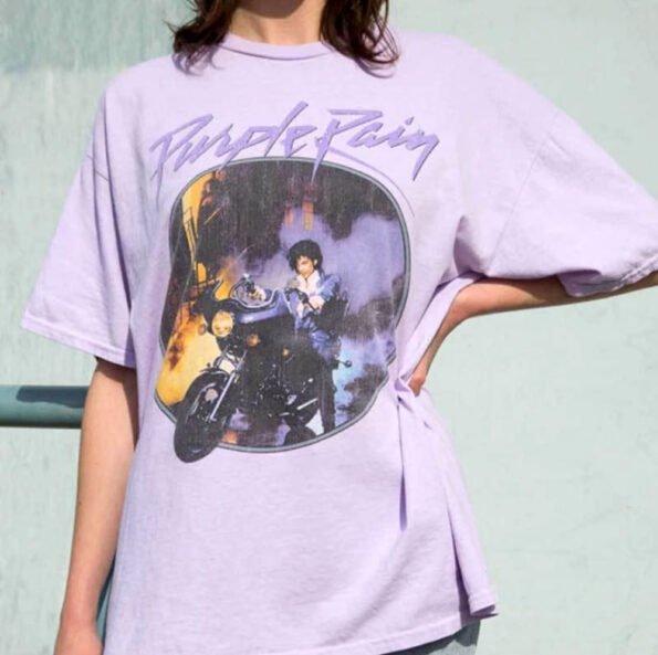 T-shirt Prince Purple Rain Violet