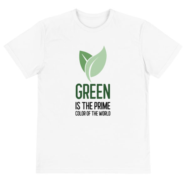 T-shirt bio Green is the prime color