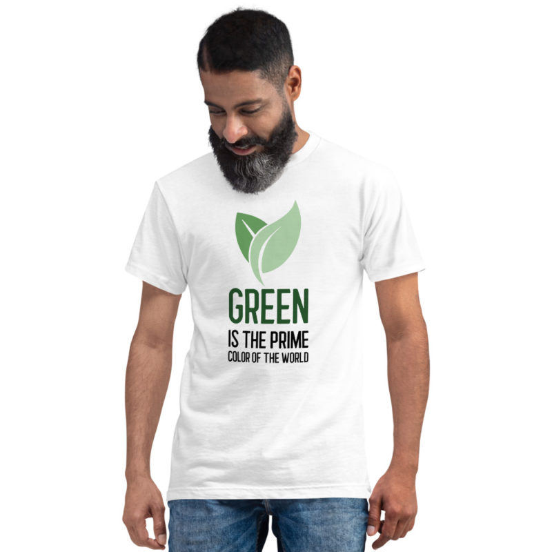 t-shirt green is the prime color of the world