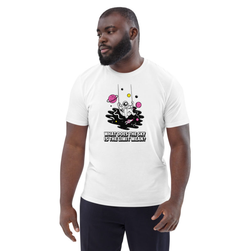 t-shirt astronaute sky is not the limit