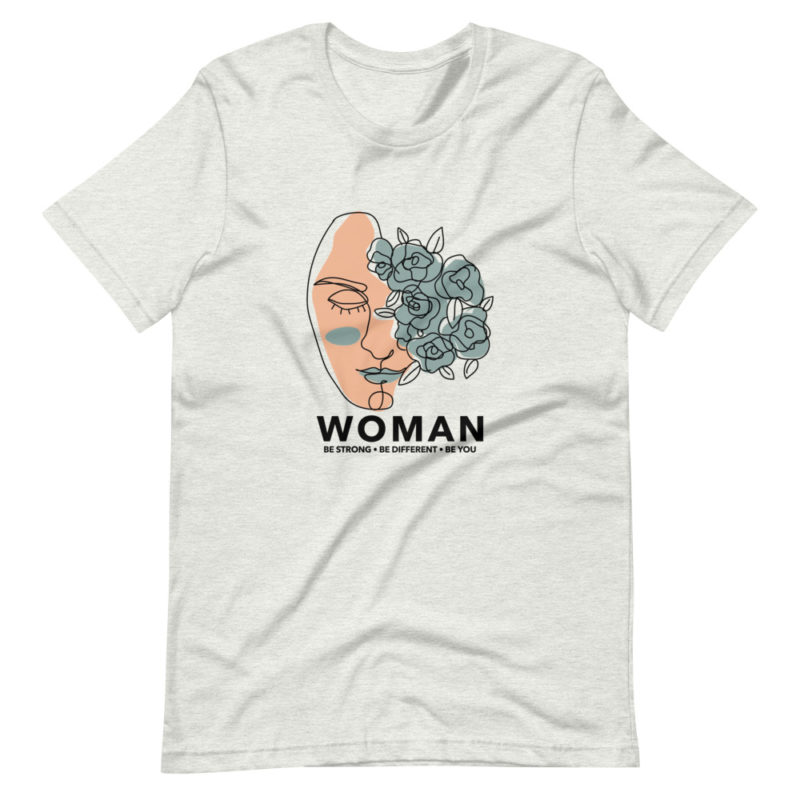 t-shirt feministe woman be strong