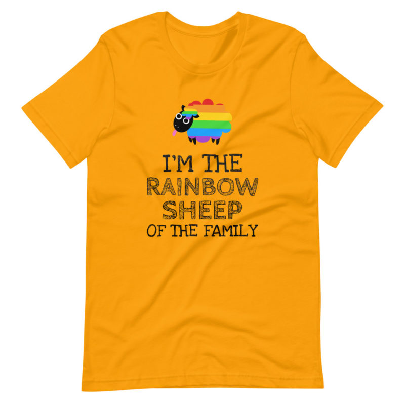 t-shirt gay queer im rainbow sheep of the family