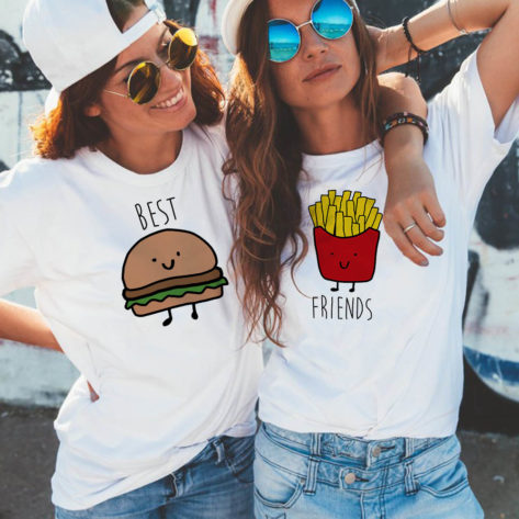 T-shirt BFF Burger frites Best Friends Créer Son T Shirt