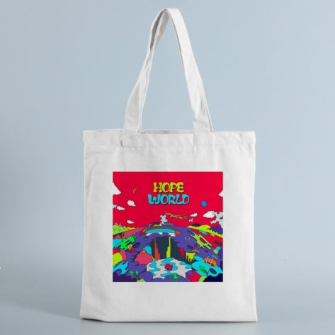 Tote bag original Psychédélique Hope World – Sac en toile Créer Son T Shirt