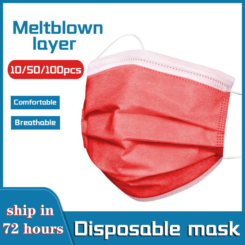 Masque Jetable Rouge (Lot de 100 masques) Créer Son T Shirt