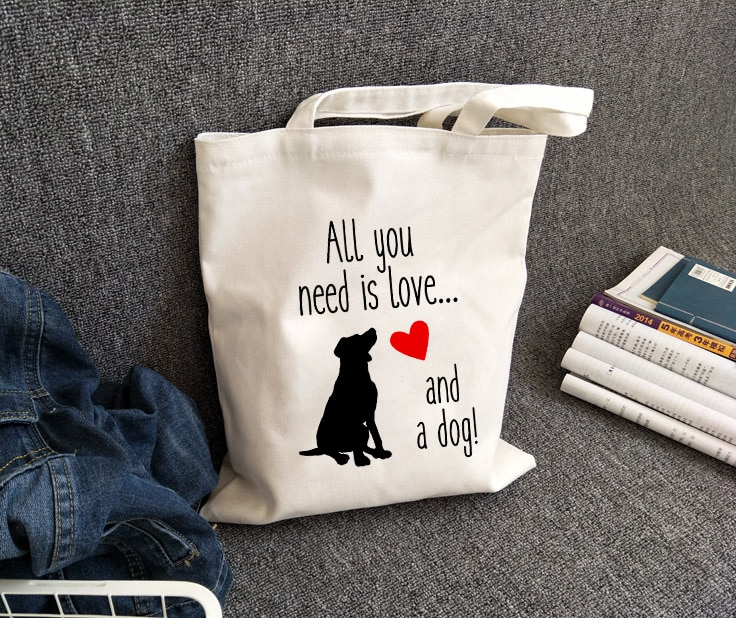 Tote bag Chien – All you need is love and dog !