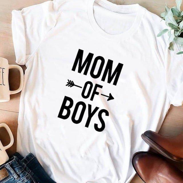 T-shirt Maman Mom of Boys