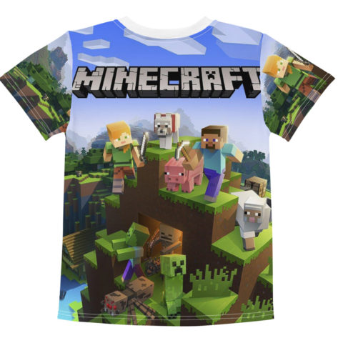 t-shirt minecraft enfant