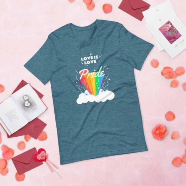 T-shirt Pride Love is Love Arc en Ciel