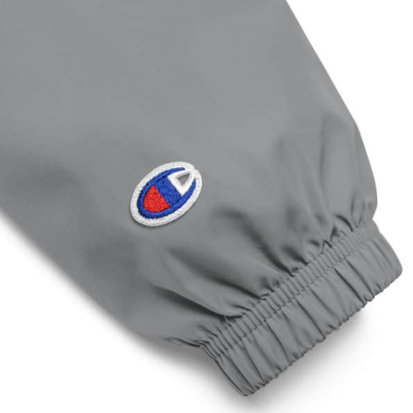 embroidered champion packable jacket graphite product details 60f829bf4b3ad