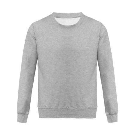 Sweat Col Rond Unisexe – Gris Oxford