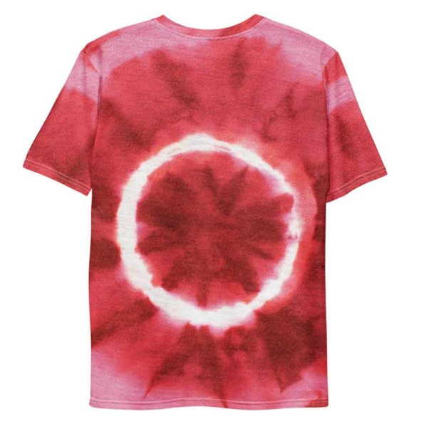 T-shirt Tie and Dye Rouge All Over personnalisable