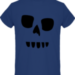tee shirt homme tete de mort pochoir
