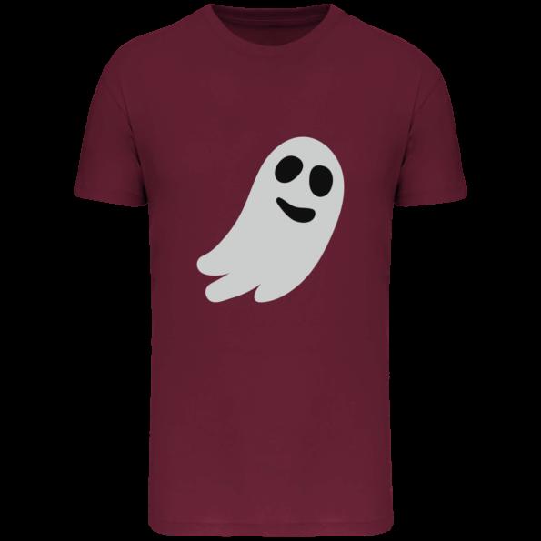 T-shirt Halloween Fantôme Bio Homme – Wine – Face