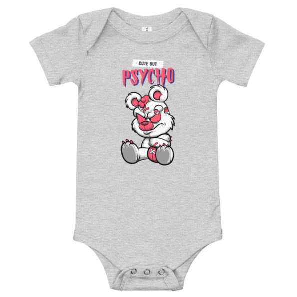 baby short sleeve one piece athletic heather front 6159b68bb3f7b