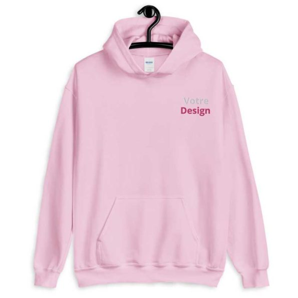 sweat a capuche personnalise brode rose