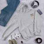 sweat a capuche personnalise brode gris