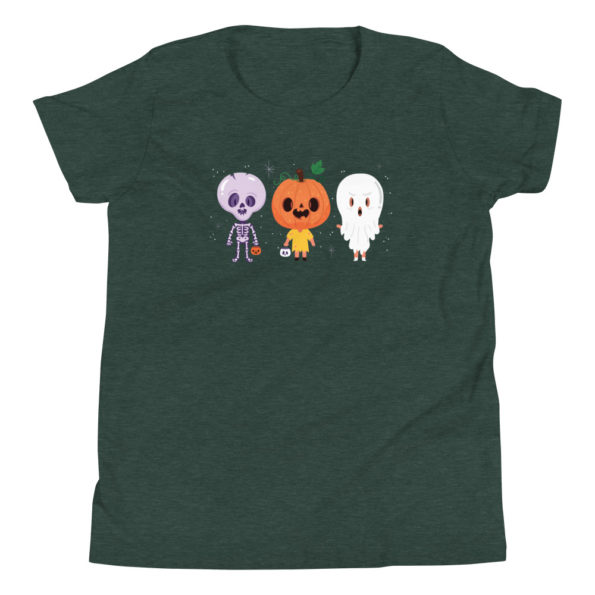youth staple tee heather forest front 6156e1147b699